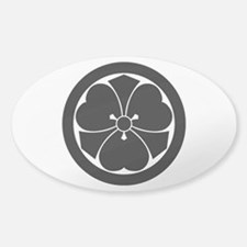 Wood sorrel with swords in circle Sticker (Oval)