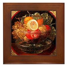 fruit mosaic Framed Tile
