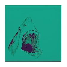 Shark (green) Tile Coaster