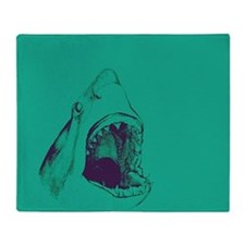 Shark (green) Throw Blanket