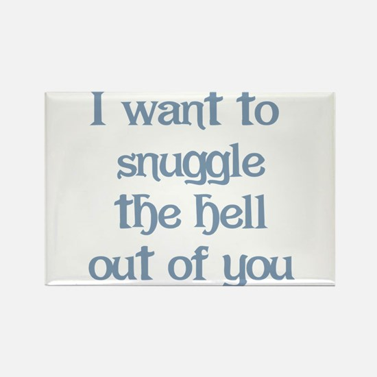 I Want to Snuggle You Rectangle Magnet (100 pack)