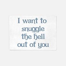 I Want to Snuggle You 5'x7'Area Rug