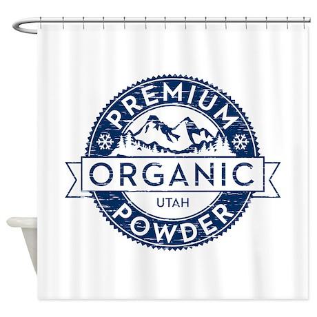 Organic Utah Powder Shower Curtain By Grafixfunkfactory