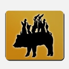 Flaming Pig Silhouette Mousepad