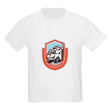 Ambulance Emergency Vehicle Driver Waving Shield C