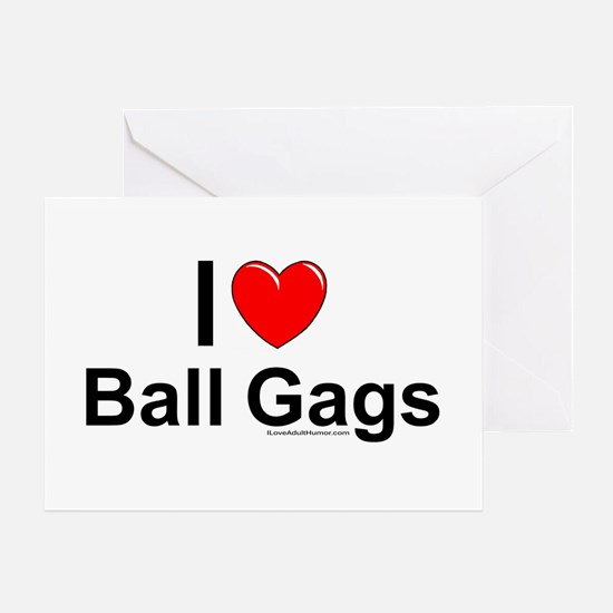 Ball Gags Greeting Card