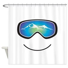 Happy Skier/Boarder Shower Curtain