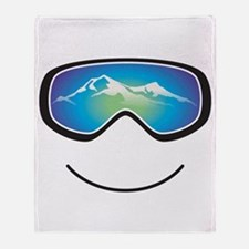 Happy Skier/Boarder Throw Blanket
