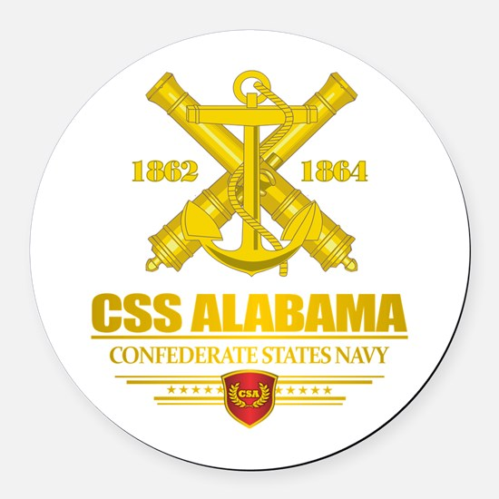 CSS Alabama Round Car Magnet