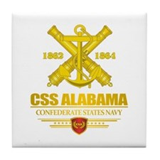 CSS Alabama Tile Coaster