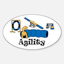 Cute Dog agility Sticker (Oval)