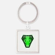 Radioactive Square Keychain