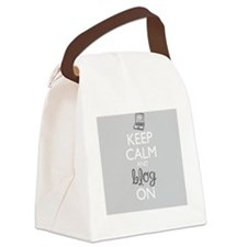 Keep Calm and Blog On Canvas Lunch Bag