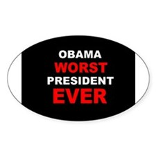 anti obama worst presdarkbumplLDK Decal