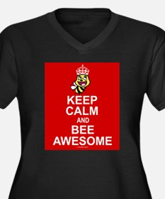 Keep calm and bee awesome Plus Size T-Shirt