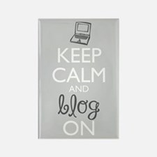 Keep Calm And Blog On Magnets