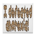 I beat Anorexia Tile Coaster