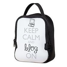 Keep Calm and Blog On Neoprene Lunch Bag