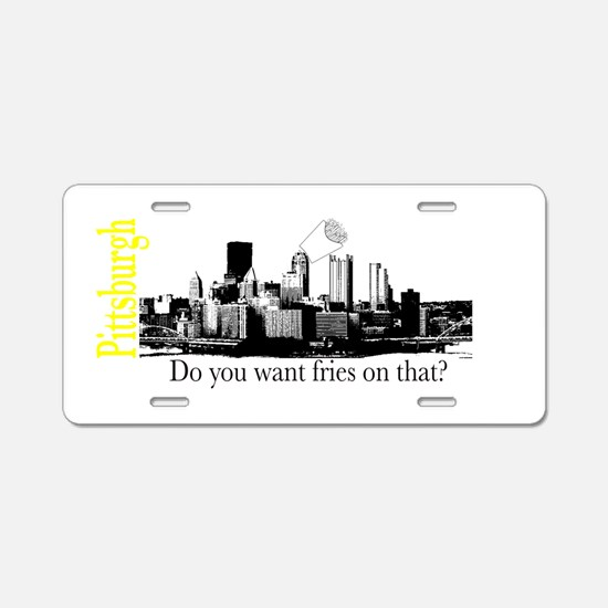 Pittsburgh Aluminum License Plate