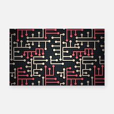 Circuit Board Rectangle Car Magnet