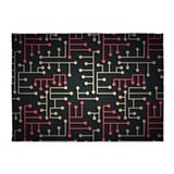 Pattern circuit 5x7 Rugs