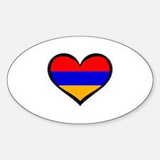 Cute Armenian heritage Sticker (Oval)