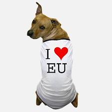 I Love EU Dog T-Shirt