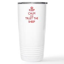 Keep calm and Trust the Sheep Travel Mug