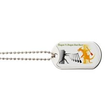 fighting with dragon Dog Tags