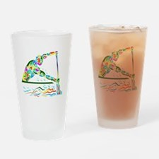 man is rowing  Drinking Glass