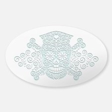 Antique Cut-Out Nurse Sticker (Oval)