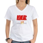 Redheads are hot! Women's V-Neck T-Shirt