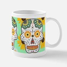 Sunflower Sugar Skull Mug