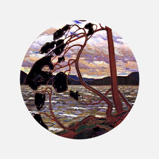 """Tom Thomson - The West Wind 3.5"""" Button"""