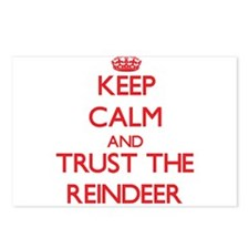 Keep calm and Trust the Reindeer Postcards (Packag