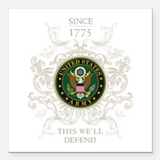 """US Army Seal 1775 Square Car Magnet 3"""" x 3"""""""