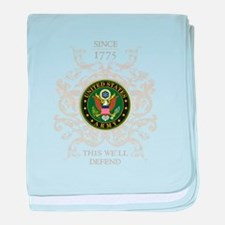 US Army Seal 1775 baby blanket