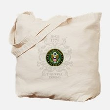US Army Seal 1775 Tote Bag