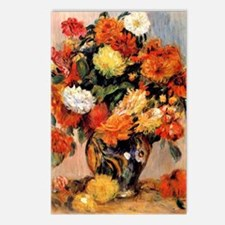 Renoir - Vase of Flowers, Postcards (Package of 8)