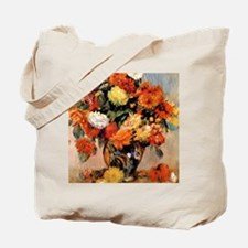 Renoir - Vase of Flowers, 1884 Tote Bag