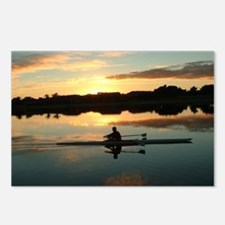 Rowing At Sunrise - Raisi Postcards (Package of 8)