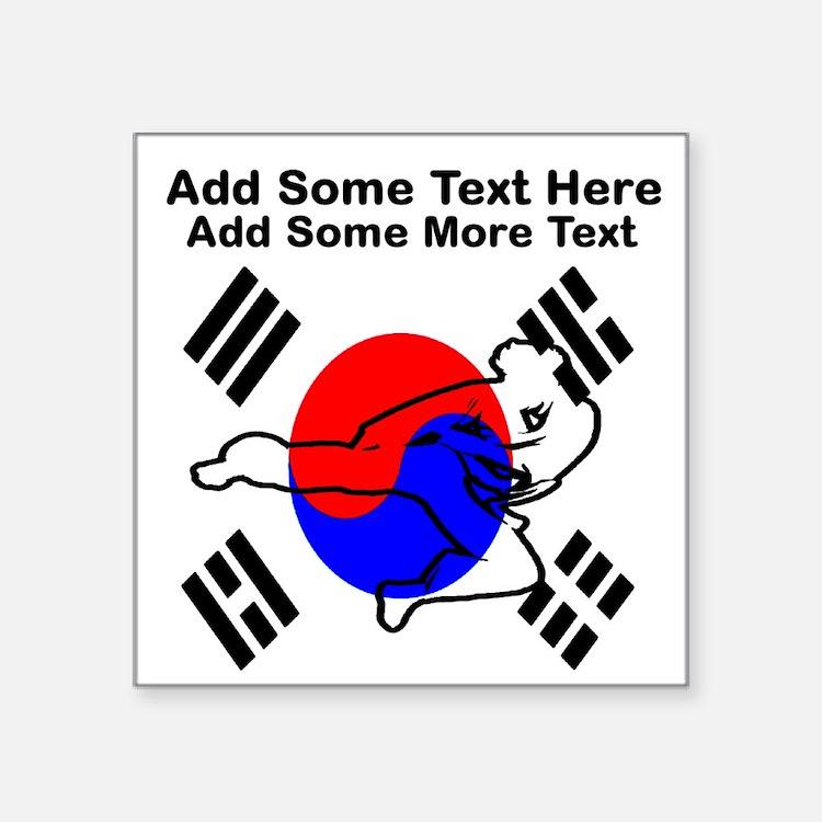 """Martial Arts Class Square Sticker 3"""" x 3"""""""