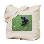 Black & Tan Puppy Tote Bag