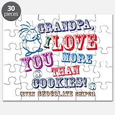 Grandpa I Love You More Than Cookies! Puzzle