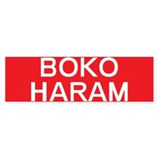 stop boko haram Bumper Bumper Sticker