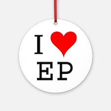 I Love EP Ornament (Round)