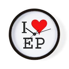 I Love EP Wall Clock