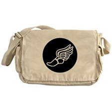 Running Sneaker Messenger Bag