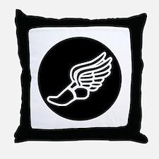 Running Sneaker Throw Pillow