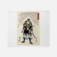 Samurai Takebayashi Sadashichi Takas Throw Blanket